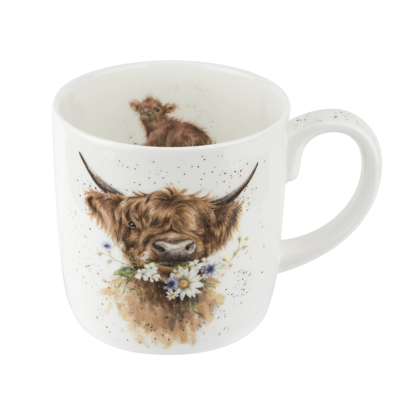Royal Worcester Wrendale Designs Mug 14 Ounce Daisy Coo (Cow) image number 0
